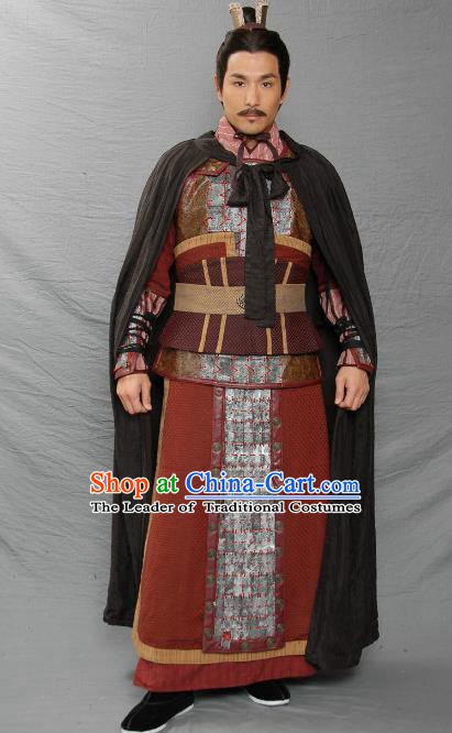 Ancient Chinese Three Kingdoms Period Kingdom Wei Strategist General Zhou Yu Replica Costume for Men