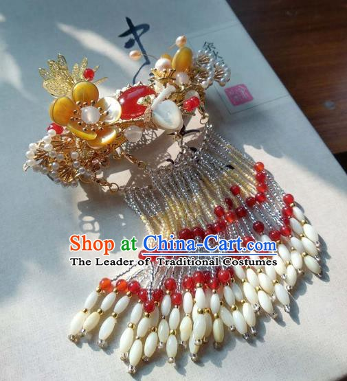 Chinese Handmade Ancient Hair Accessories Tassel Hair Stick Classical Hanfu Hairpins for Women