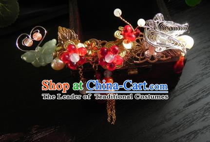 Chinese Handmade Ancient Hairpins Hair Accessories Classical Hanfu Butterfly Hair Stick for Women