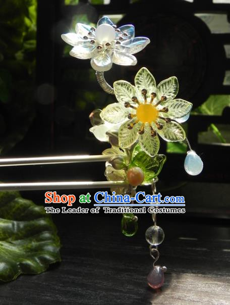 Chinese Handmade Ancient Hanfu Daisy Hairpins Hair Accessories Classical Hair Clip for Women