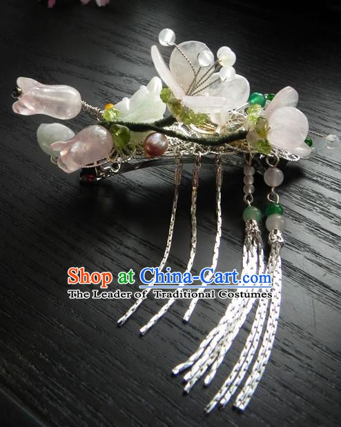 Chinese Handmade Ancient Hair Accessories Crystal Hair Stick Classical Hanfu Hairpins for Women