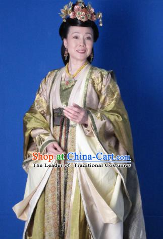Chinese Ancient Five Dynasties and Ten Kingdoms Chu Queen Li Hanfu Dress Replica Costume for Women