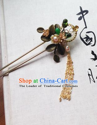 Chinese Ancient Hanfu Tassel Handmade Hairpins Hair Accessories Classical Hair Clip for Women