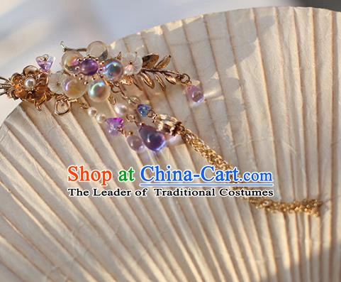 Chinese Ancient Handmade Hanfu Hairpins Palace Lady Hair Stick Hair Accessories for Women