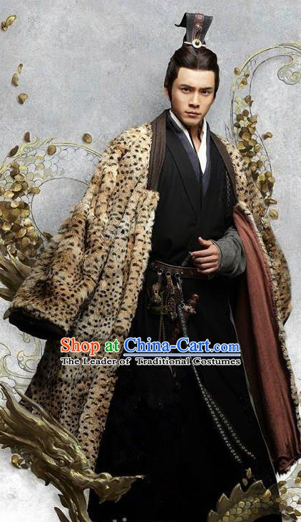 Chinese Ancient Eastern Han Dynasty Politician Military Counsellor Sima Yi Historical Costume for Men