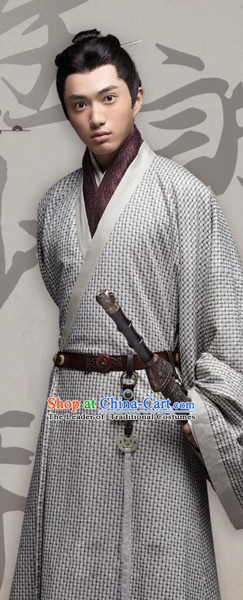 Chinese Ancient Three Kingdoms Period Wei State Prince Cao Pi Historical Costume for Men