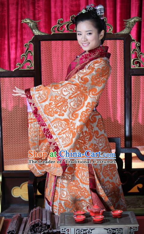 Chinese Spring and Autumn Period Wei State Queen Hanfu Dress Ancient Princess Consort Replica Costume for Women