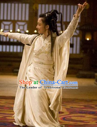 Chinese Ancient Western Chu Imperial Concubine Yuji Hanfu Dress Replica Costume for Women