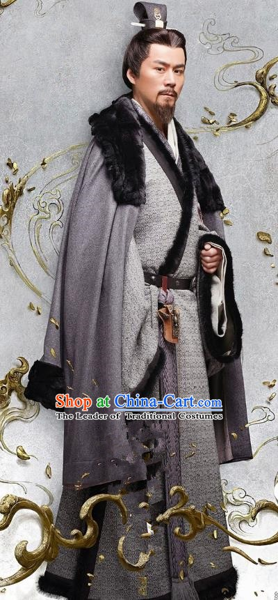 Ancient Chinese Three Kingdoms Period Wei State Minister Yang Jun Historical Costume for Men