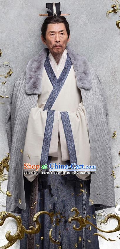 Ancient Chinese Eastern Han Dynasty Litterateur Kong Rong Historical Costume for Men