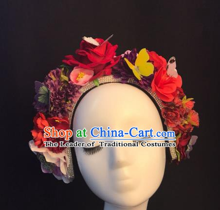 Top Grade Hair Accessories Halloween Stage Performance Flowers Hair Clasp Headwear for Women