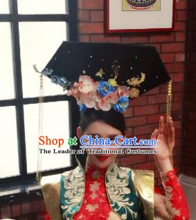 Top Grade China Hair Accessories Qing Dynasty Princess Phoenix Coronet Stage Performance Palace Headdress for Women