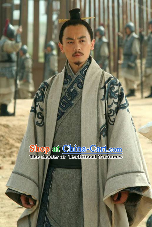 Traditional Chinese Spring and Autumn Period Famous Militarist Politician Sun Wu Replica Costumes for Men