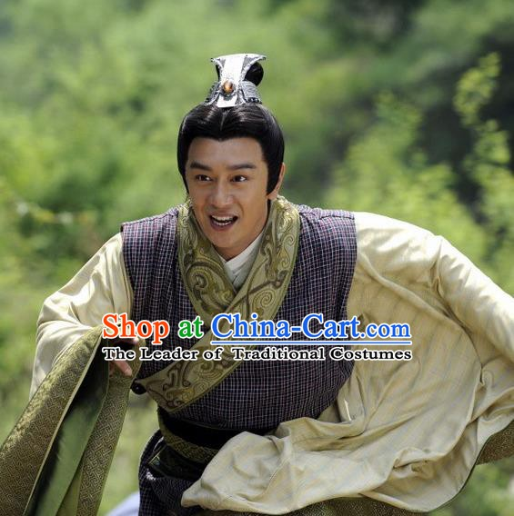 Ancient Chinese Spring and Autumn Period Yue State Statesman Strategist Fan Li Replica Costumes for Men