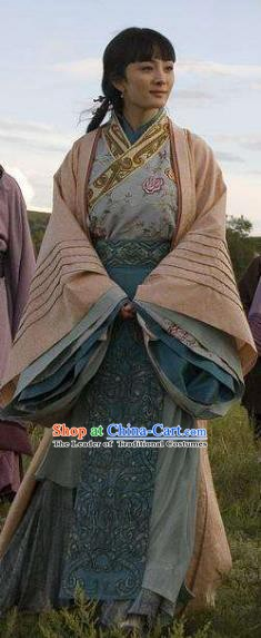 Ancient Chinese Qin Dynasty Princess Ying Ling Dress Palace Lady Replica Costume for Women