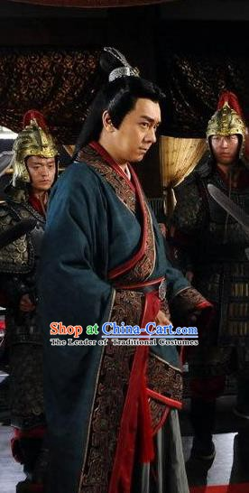 Ancient Chinese Spring and Autumn Period Statesman Strategist Economist Fan Li Replica Costumes for Men