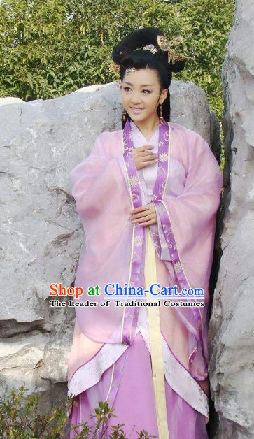 Traditional Chinese Ancient Han Dynasty Imperial Concubine Dress Replica Costume for Women