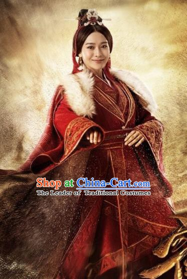 Chinese Ancient Han Dynasty Swordswoman Hanfu Dress Replica Costume for Women