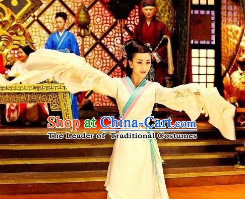 Chinese Ancient Han Dynasty Empress Huo Chengjun Hanfu Dress Queen Replica Costume for Women