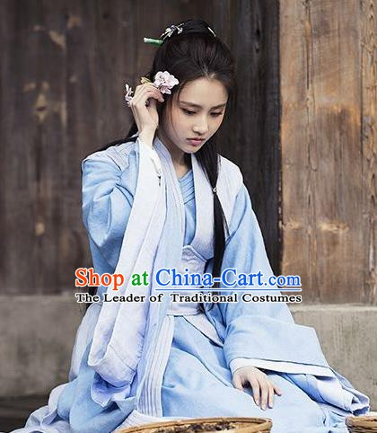 Chinese Nirvana in Fire Northern and Southern Dynasties Female Physician Hanfu Dress Replica Costume for Women