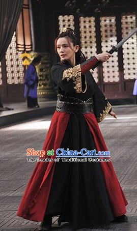 Nirvana in Fire Chinese Ancient Swordswoman Female Knight-errant Replica Costume for Women