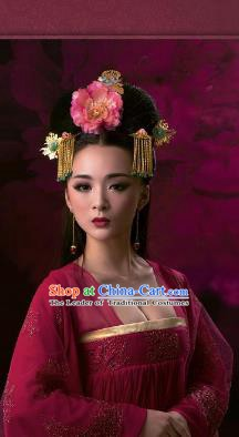 Traditional Chinese Ancient Hair Accessories Tassel Step Shake Hairpins Complete Set for Women