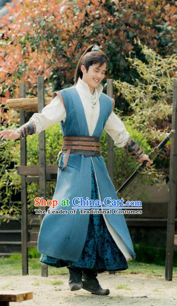 Nirvana in Fire Chinese Ancient Nobility Childe Swordsman Xiao Pingjing Replica Costume for Men