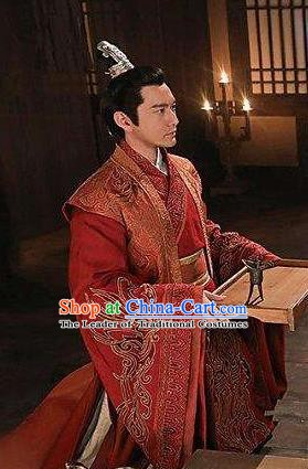 Nirvana in Fire Ancient Chinese Swordsman Prince Xiao Pingzhang Wedding Replica Costume for Men