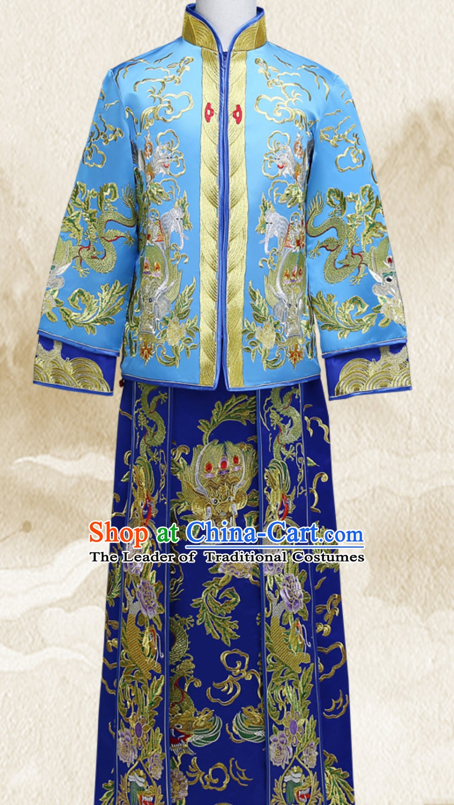 Embroidered Bridegroom Chinese Traditional Wedding Dresses Ceremonial Clothing China Wedding Dress for Men
