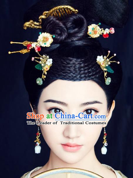 Traditional Chinese Ancient Palace Lady Hair Accessories Phoenix Coronet Hairpins for Women