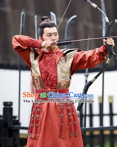 Chinese Ancient Tang Dynasty Prince Li Yuanji Replica Costume for Men