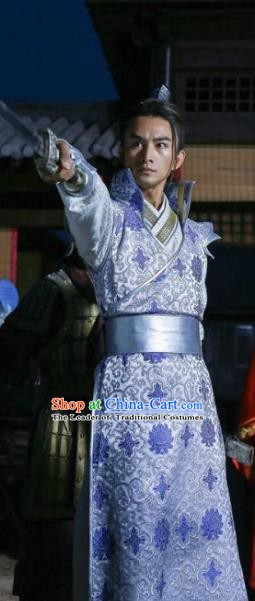 Chinese Ancient Tang Dynasty Founding Crown Prince Li Jiancheng Embroidered Replica Costume for Men