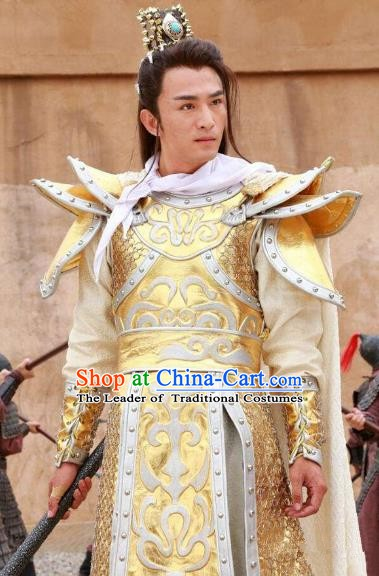 Chinese Ancient Tang Dynasty General Wu Sansi Replica Costume Helmet and Armour for Men