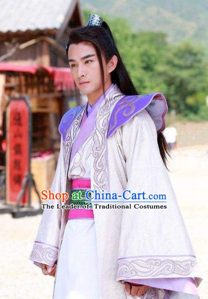 Chinese Ancient Tang Dynasty Nobility Childe Wu Sansi Replica Costume for Men