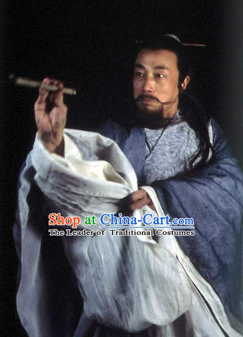 Chinese Ancient Tang Dynasty Famous Poet Poetic Genius Li Bai Replica Costume for Men