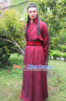 Chinese Ancient Tang Dynasty Nobility Childe Helan Minzhi Replica Costume for Men