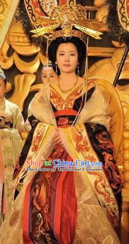 Chinese Ancient Tang Dynasty Imperial Consort Wuhui Hanfu Dress Replica Costume for Women