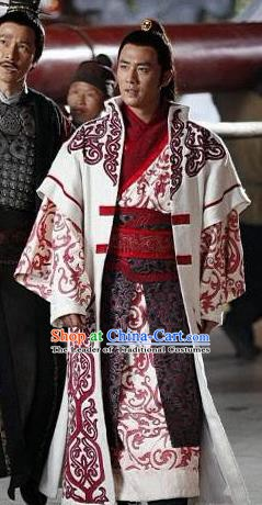 Chinese Ancient Tang Dynasty Military Officer Embroidered Replica Costume for Men