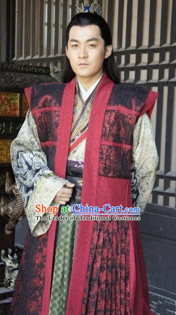 Chinese Ancient Tang Dynasty Prince Li Jiancheng Replica Costume for Men