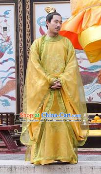 Chinese Ancient Tang Dynasty Emperor Yizong Li Cui Imperial Robe Replica Costume for Men