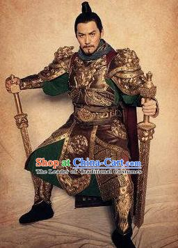 Chinese Ancient Tang Dynasty Swordsman General Qin Qiong Replica Costume for Men