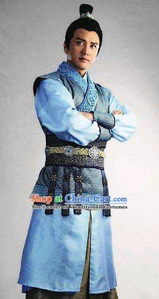 Chinese Ancient Tang Dynasty Swordsman Nobility Childe Xue Huaiyi Replica Costume for Men