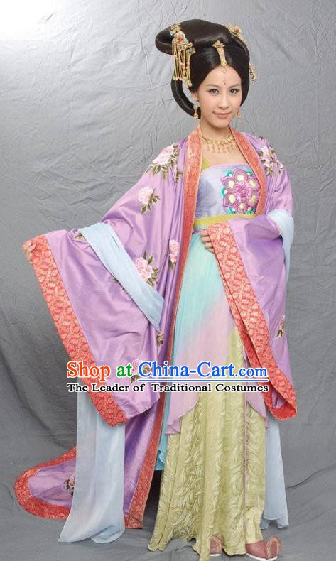 Traditional Chinese Ancient Tang Dynasty Imperial Concubine Hui Embroidered Replica Costume for Women