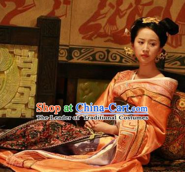 Traditional Chinese Han Dynasty Princess Lv Ying Hanfu Dress Ancient Palace Replica Costume for Women