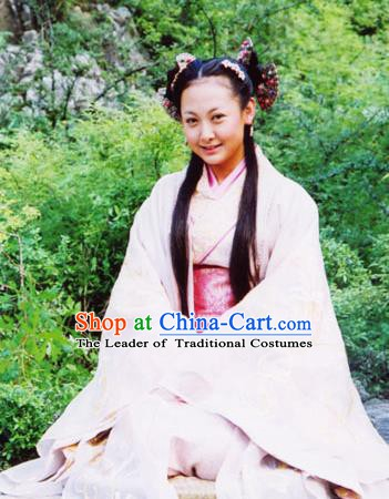 Traditional Ancient Chinese Han Dynasty Palace Lady Hanfu Dress Replica Costume for Women