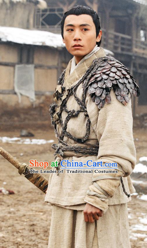 Chinese Ancient Warring States Time Assassin Swordsman Jing Ke Replica Costume for Men