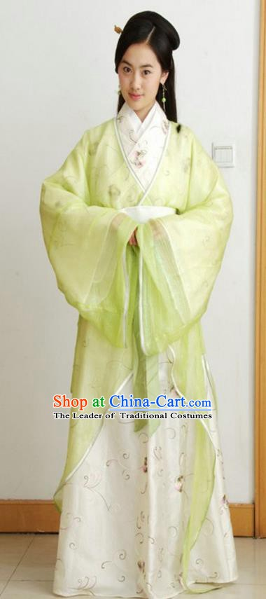 Chinese Ancient Qin Dynasty Nobility Lady Hanfu Dress Replica Costume for Women