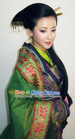 Chinese Ancient Imperial Empress Costumes Han Dynasty Queen Lv Zhi Hanfu Dress Replica Costume for Women