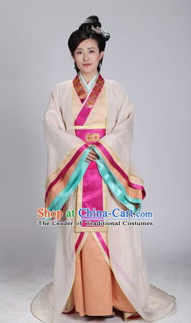 Traditional Chinese Ancient Qin Kingdom Imperial Consort Mengzhao Embroidered Replica Costume for Women