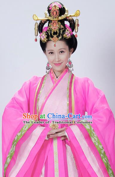 Traditional Chinese Ancient Qin Kingdom Consort Zheng Xiu Embroidered Replica Costume for Women